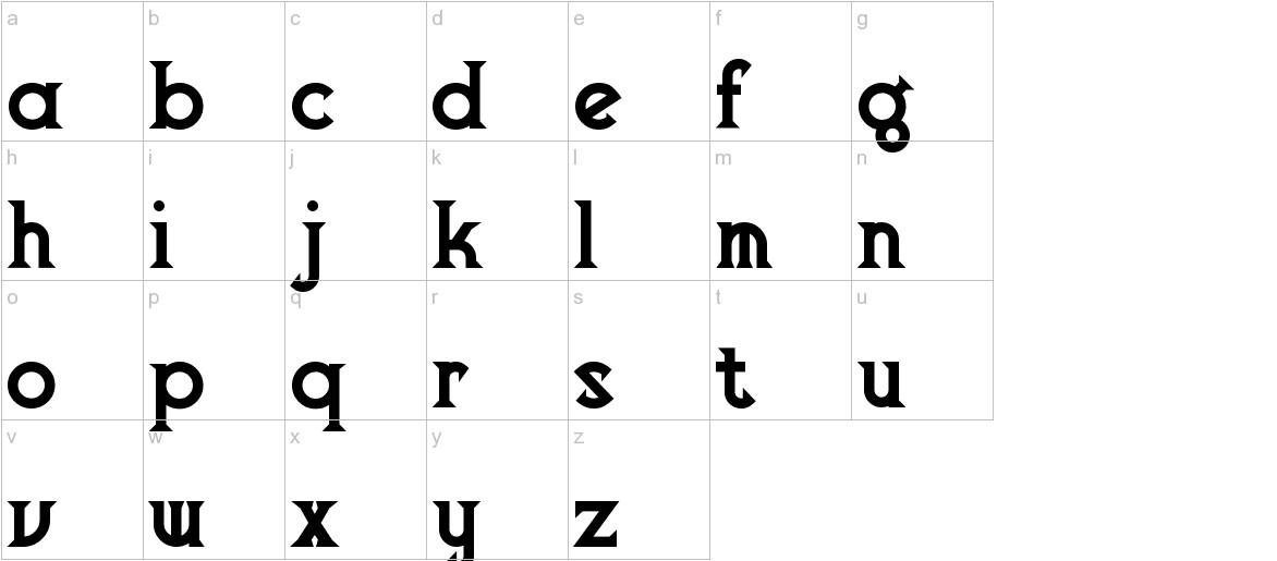 VlaanderenChiseled lowercase