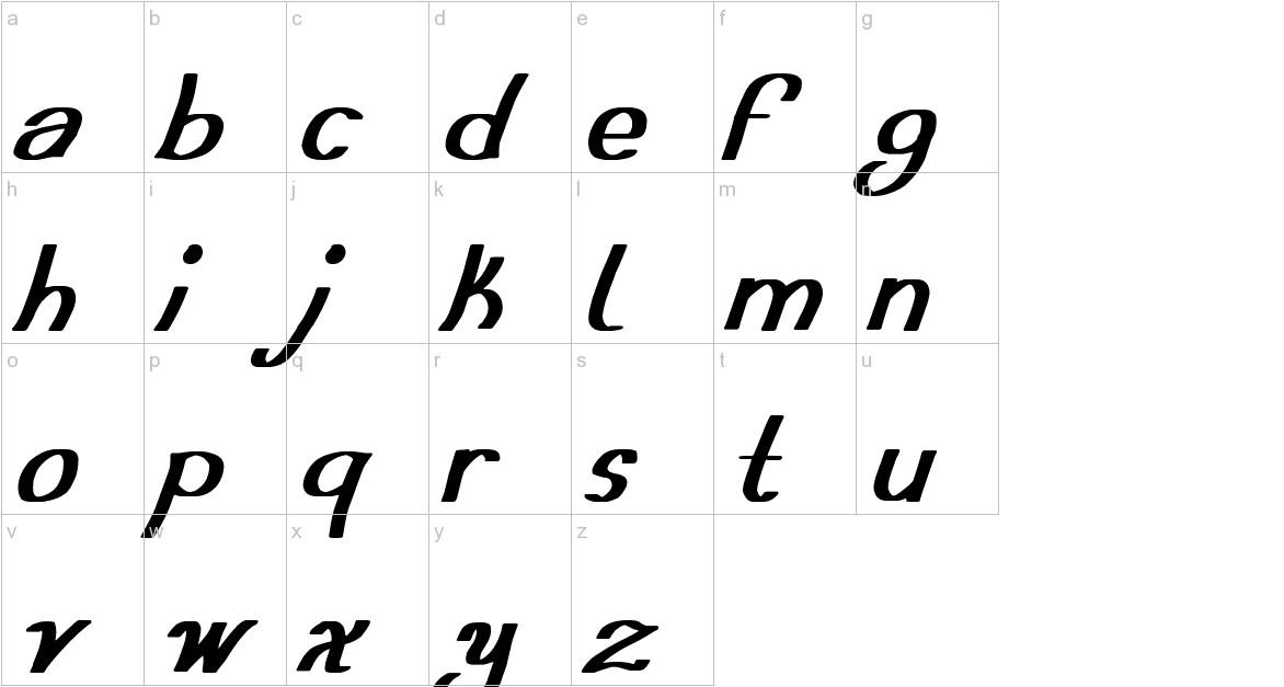 Austera Simple tfb lowercase