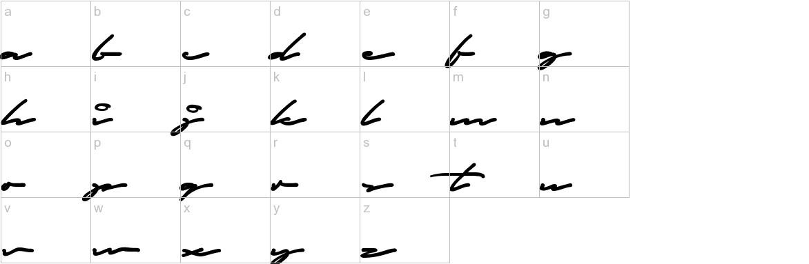 Autograf lowercase