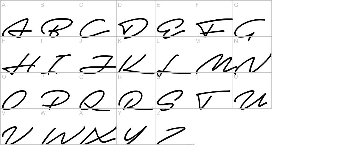 Autograf uppercase