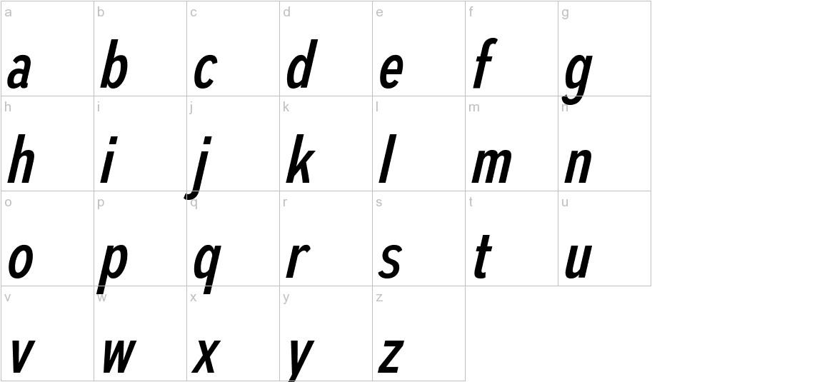 AutoradiographicRg-Italic lowercase
