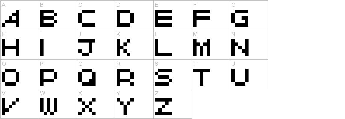 Avant Pixel uppercase