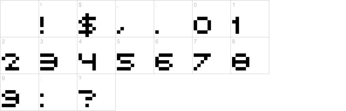 Avant Pixel characters