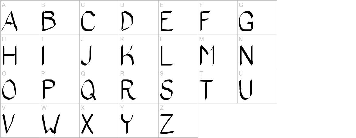 Bad Calligraphic 2 uppercase