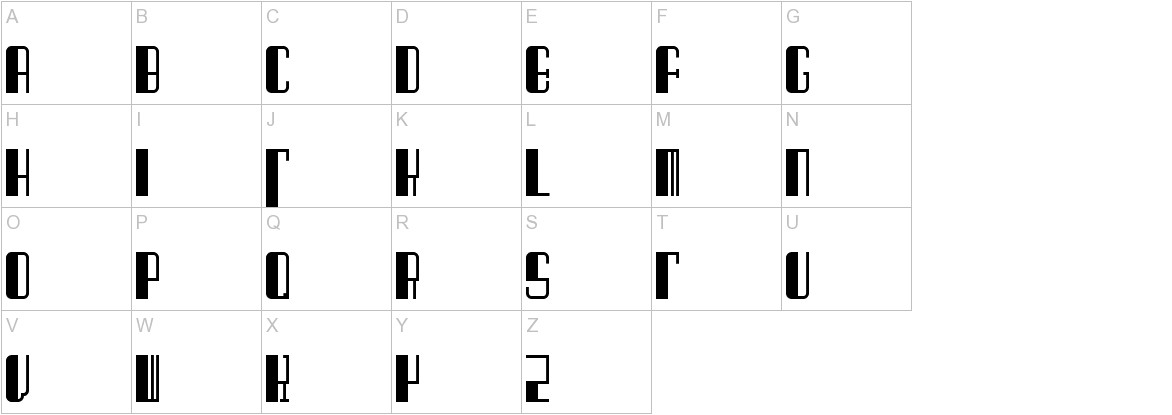 Barcode Deco! uppercase
