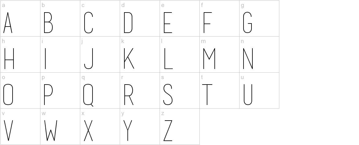 basic title font lowercase