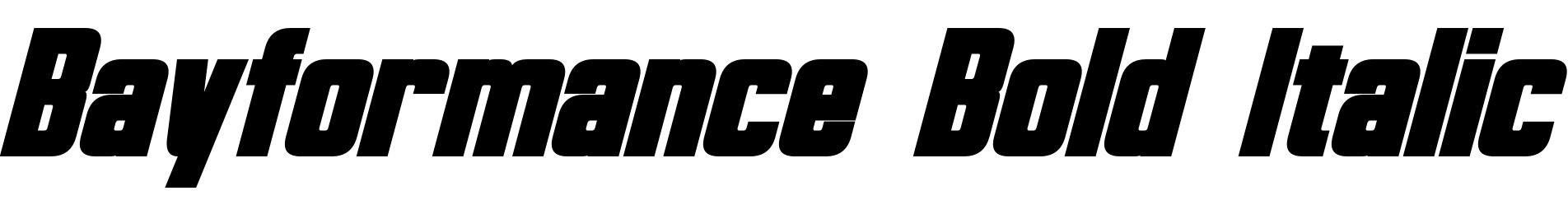 Bayformance Bold Italic