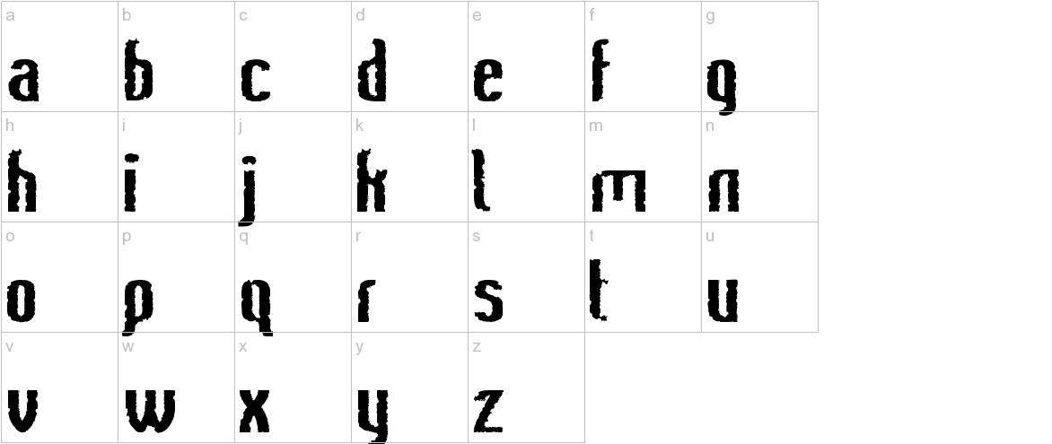 Bee Ridge Vintage Semi-condensed Bold lowercase