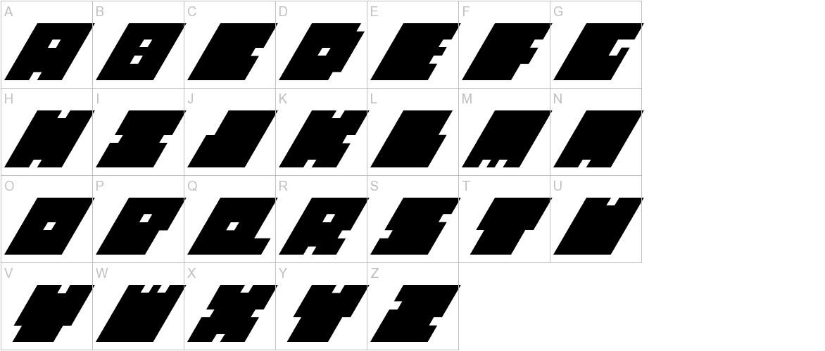 Big Bad Blocks Italic uppercase