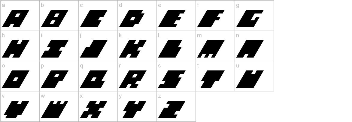 Big Bad Blocks Italic lowercase