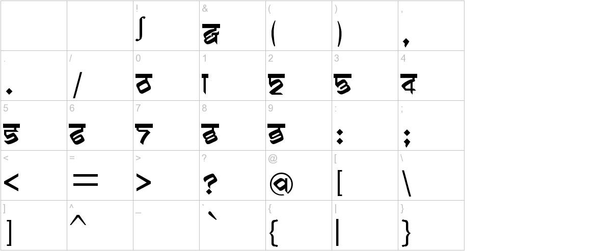biling mi marathi characters