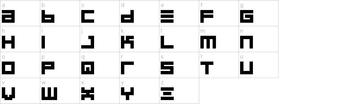 BIN Bold lowercase