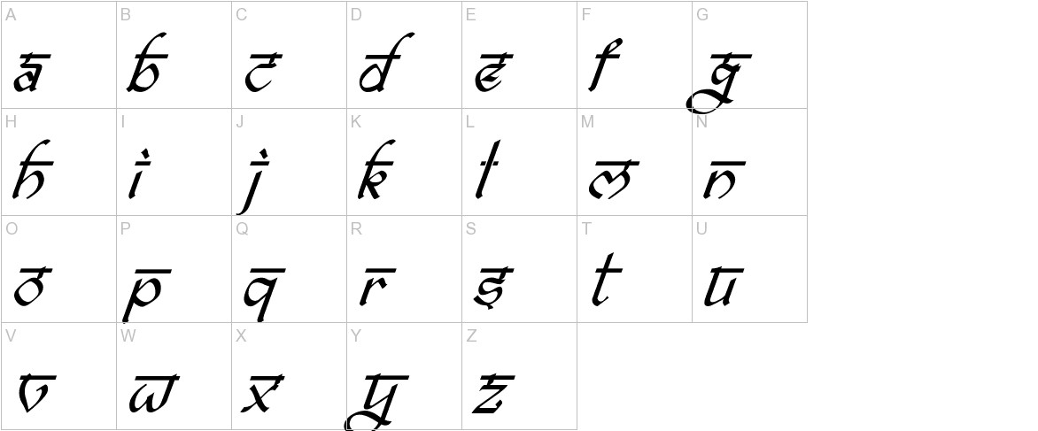 bitling ravish Italic uppercase