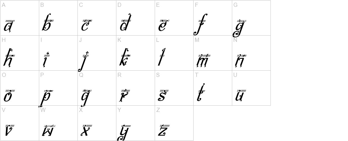 bitling Sravi Italic uppercase