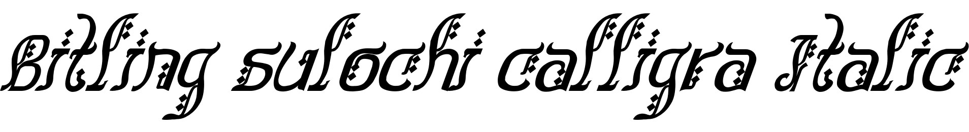 Bitling sulochi calligra Italic