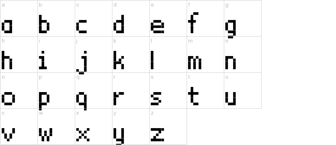 BitxMap Font tfb lowercase