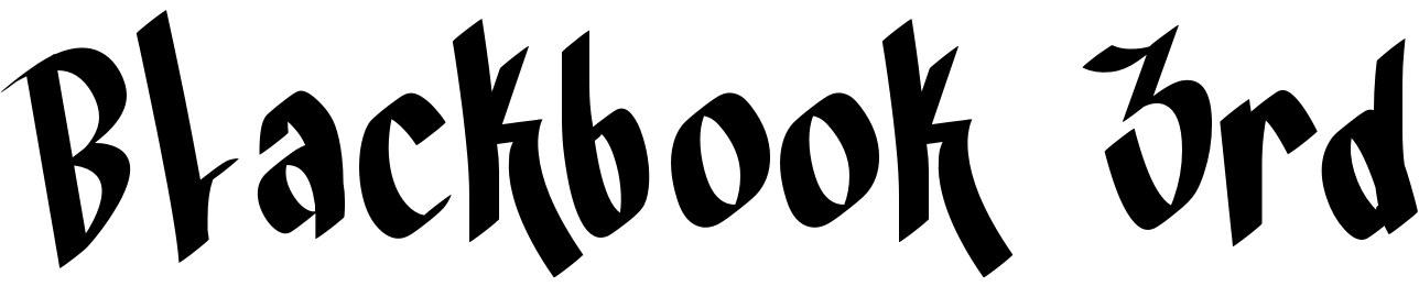 Blackbook 3rd