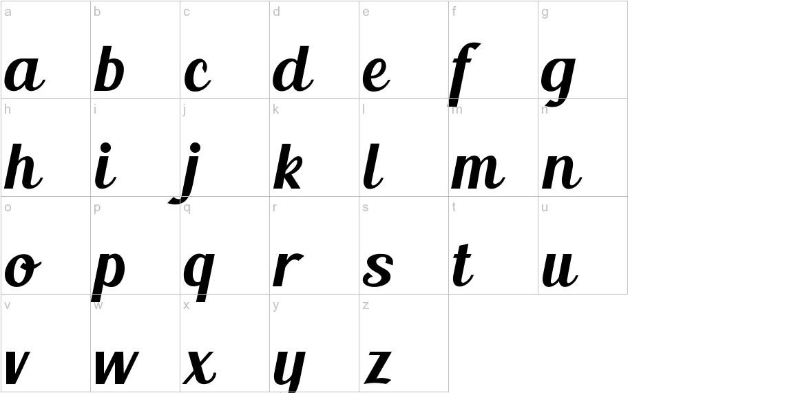 Blenda Script lowercase