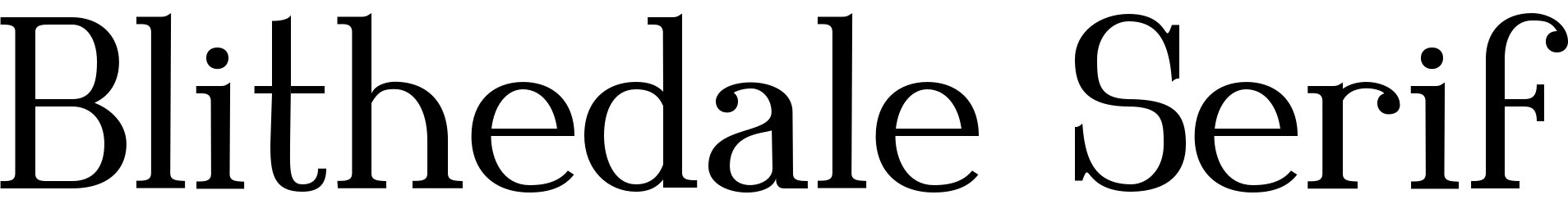 Blithedale Serif