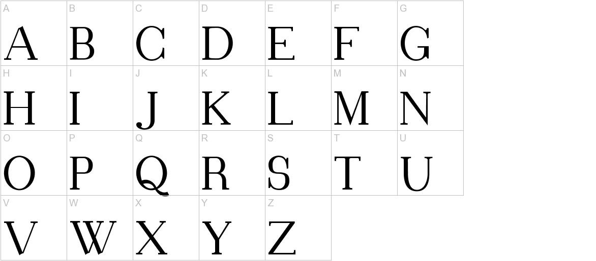 Blithedale Serif uppercase