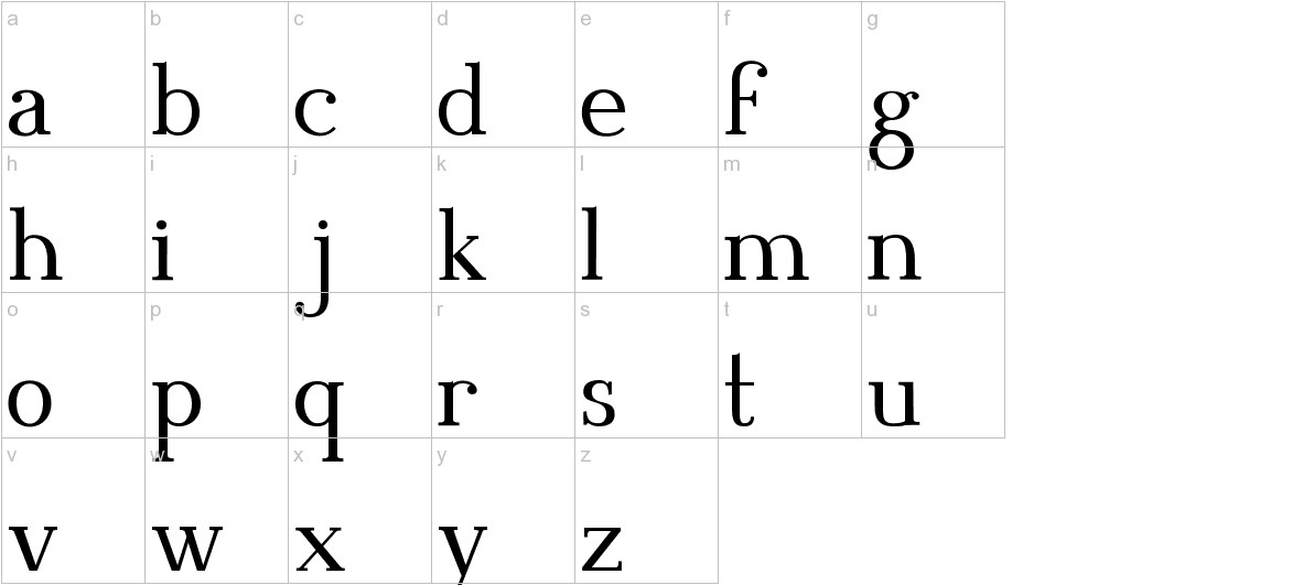 Blithedale Serif lowercase