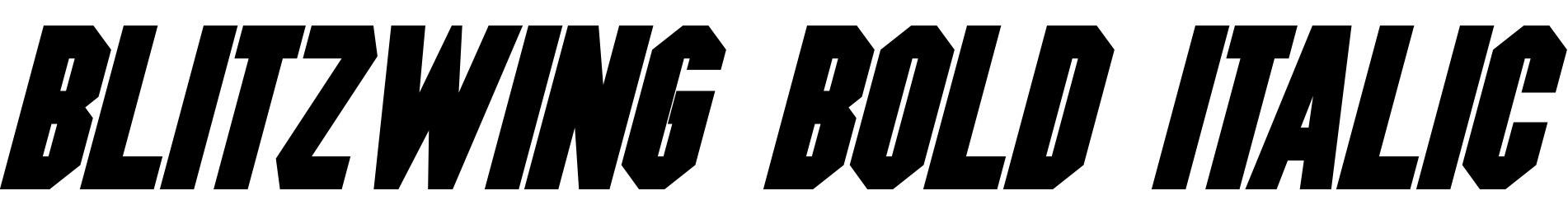Blitzwing Bold Italic