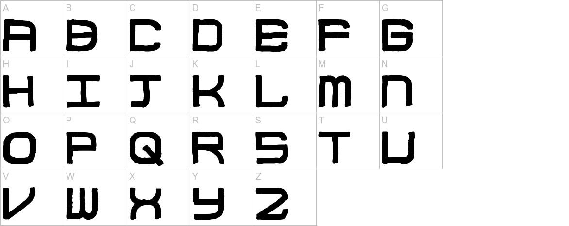Block Code uppercase
