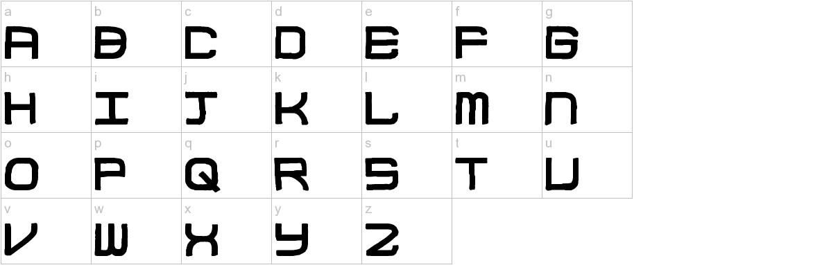 Block Code lowercase