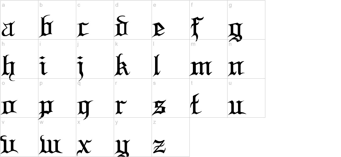 Blood and Blade lowercase