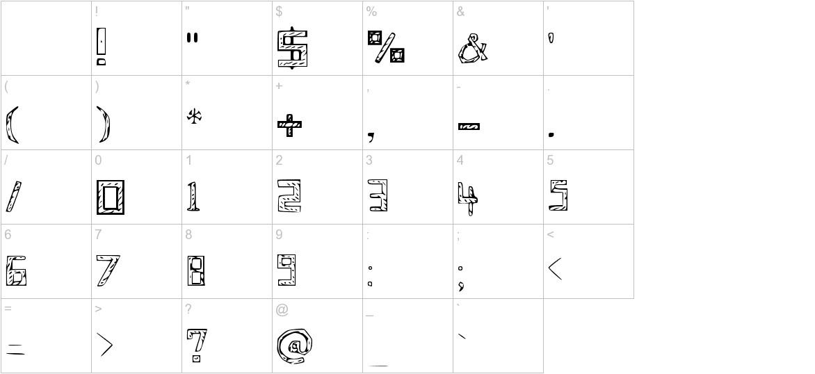 Blueprint Medium characters