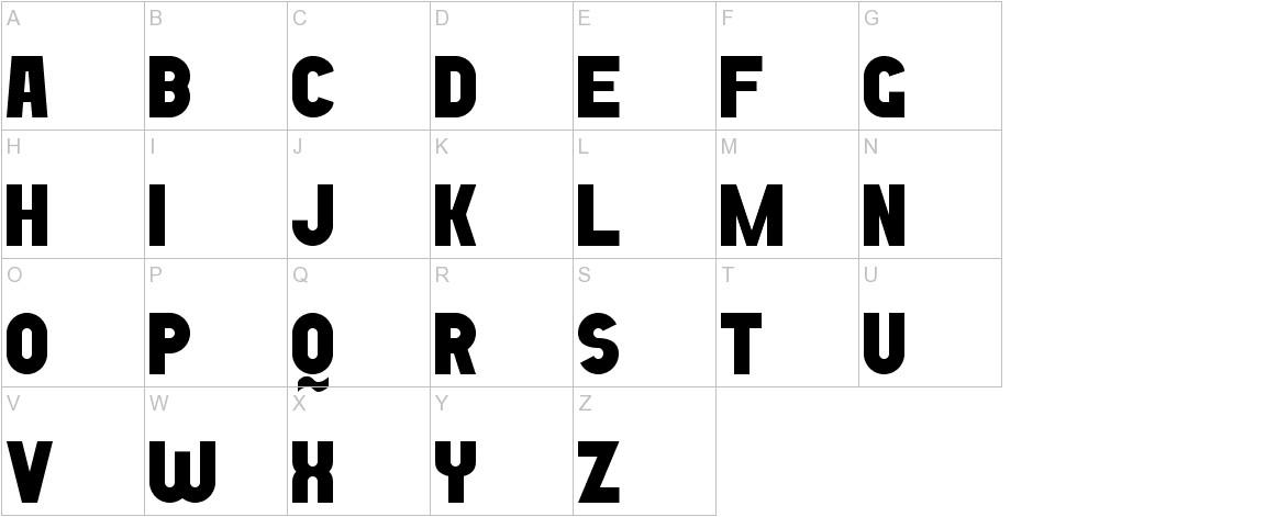 Bold Game Font 7 uppercase