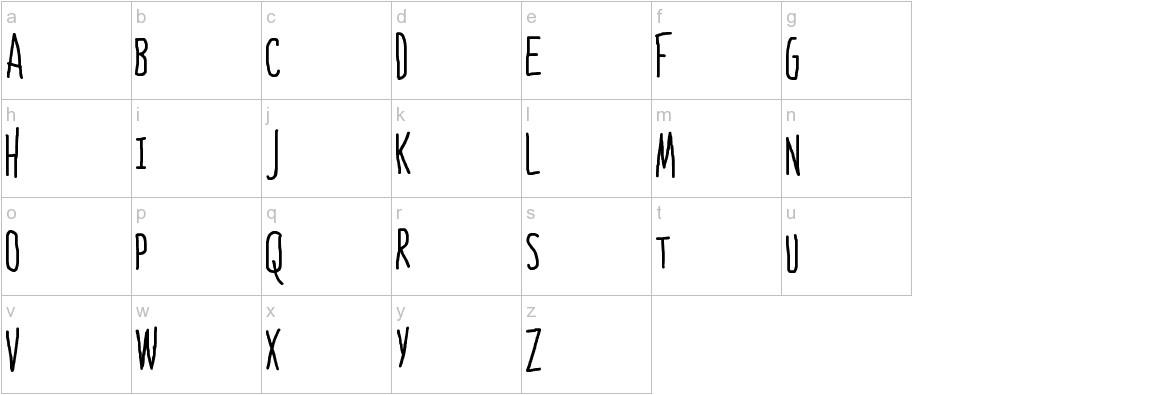 Bones to Your Generic Script Font! lowercase