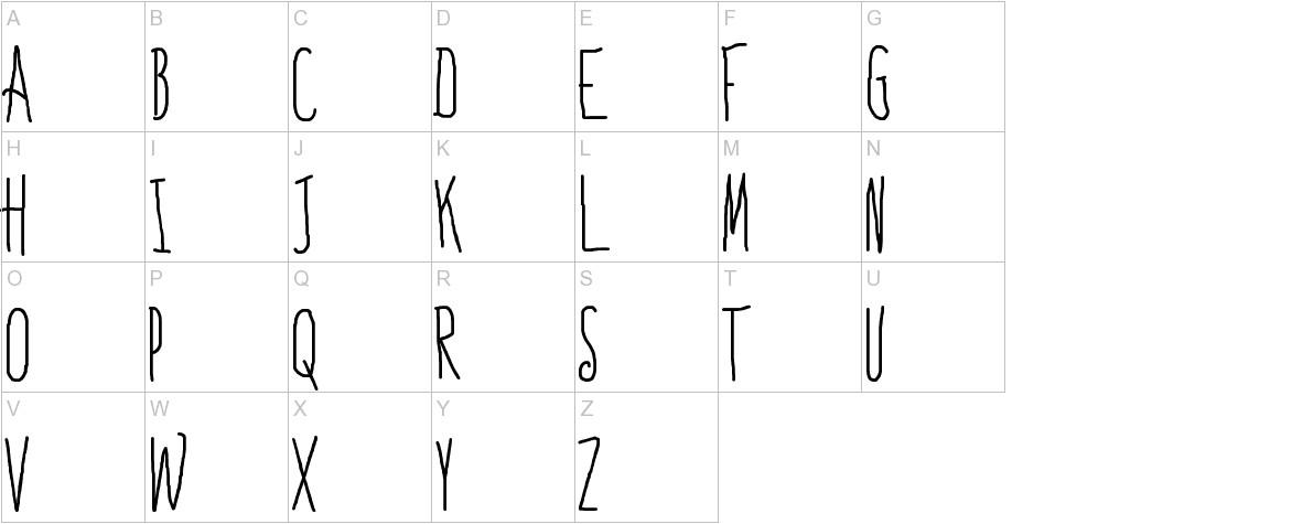 Bones to Your Generic Script Font! uppercase