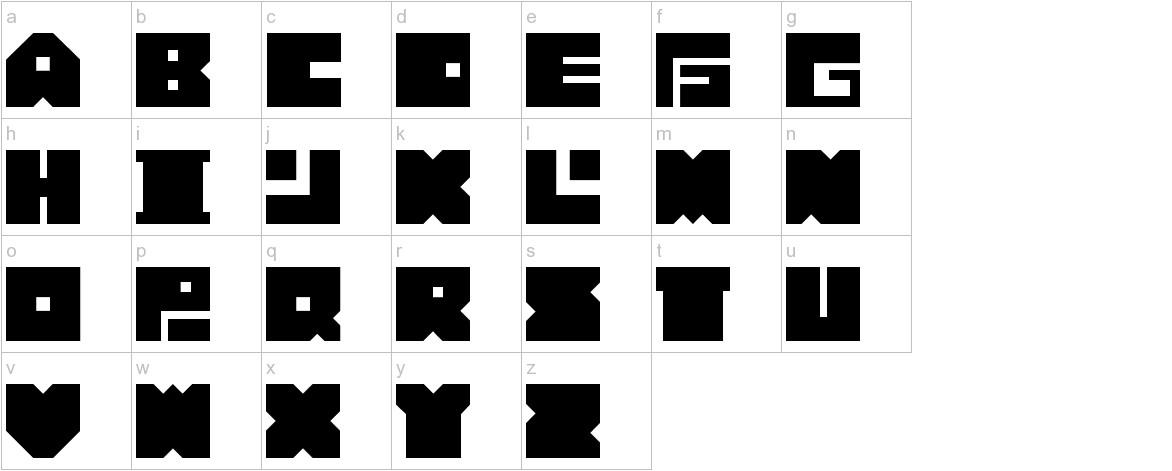 Bonko Bloks lowercase
