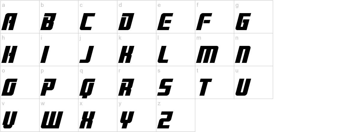 Brainstorm Bold Italic lowercase
