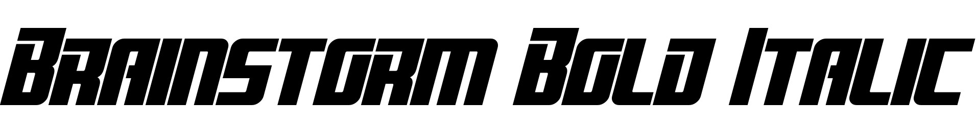 Brainstorm Bold Italic