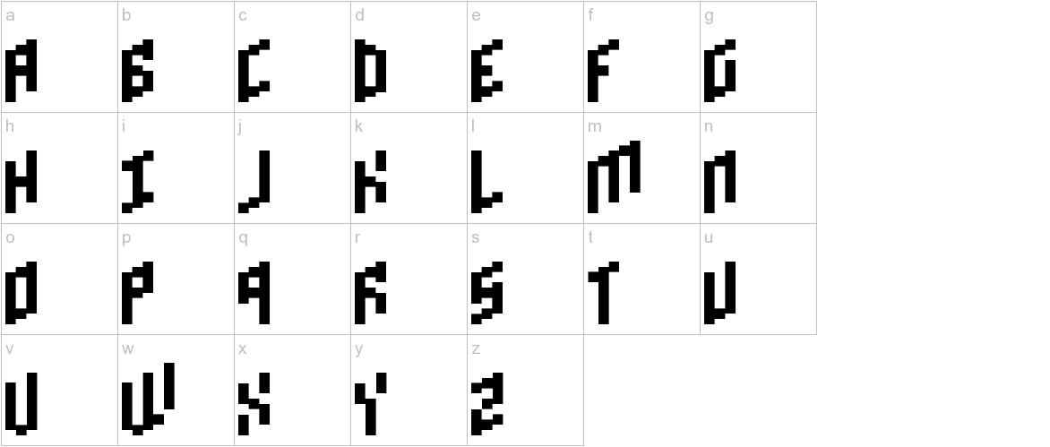 Brick Bold lowercase
