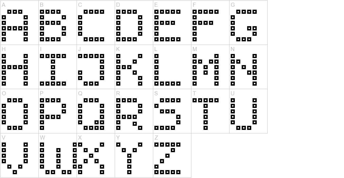 Brick LED-7 uppercase