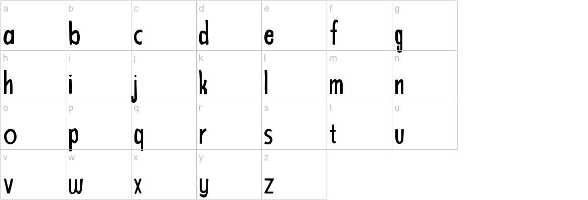 Bright and Beautiful lowercase