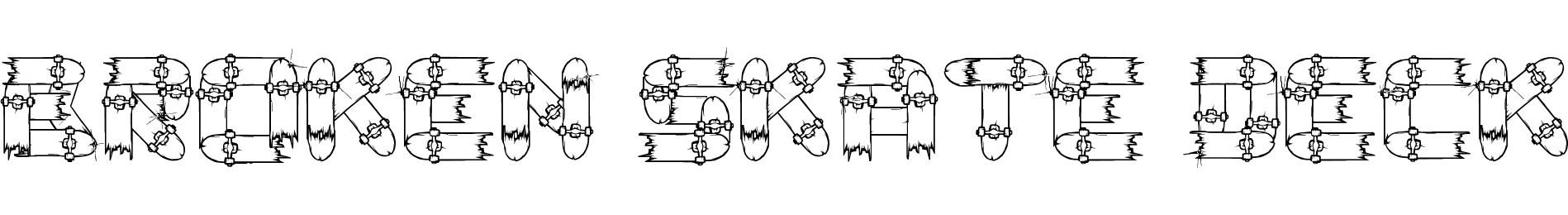 Broken Skate deck