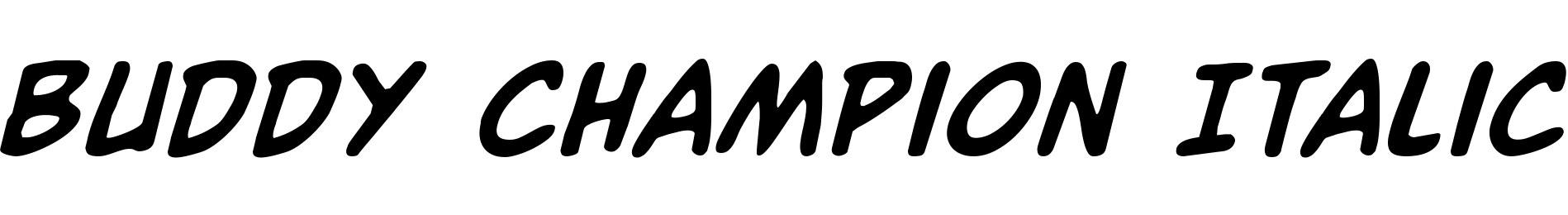 Buddy Champion Italic