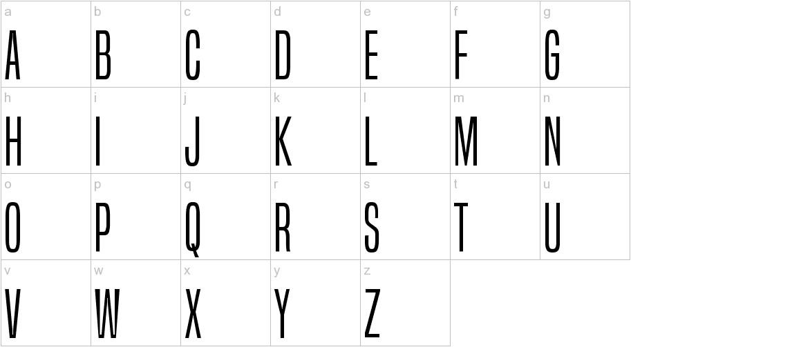 BuiltTitlingLt-Regular lowercase