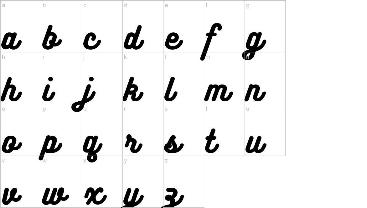 Bukhari Script lowercase