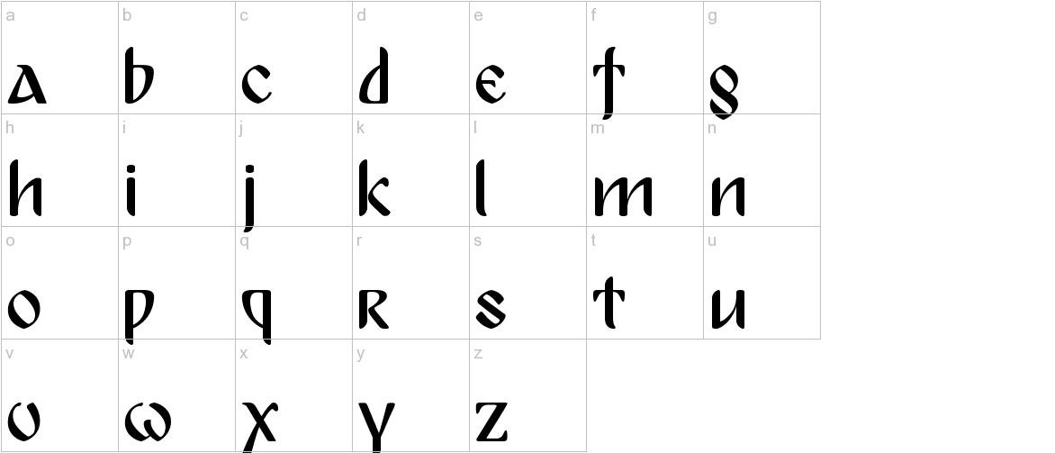 Bulgaria Moderna Pro lowercase