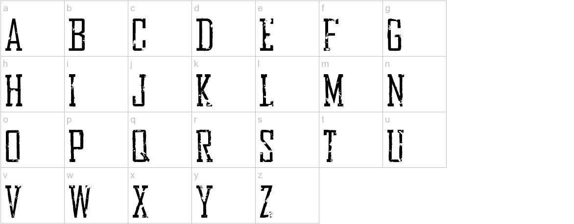 Bureau Distressed lowercase