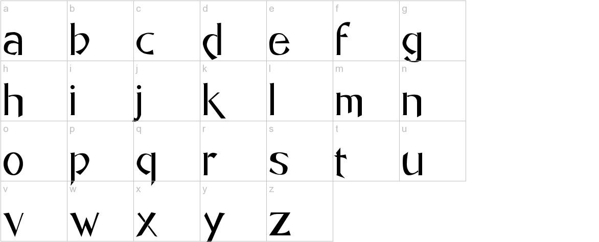 Caligo lowercase