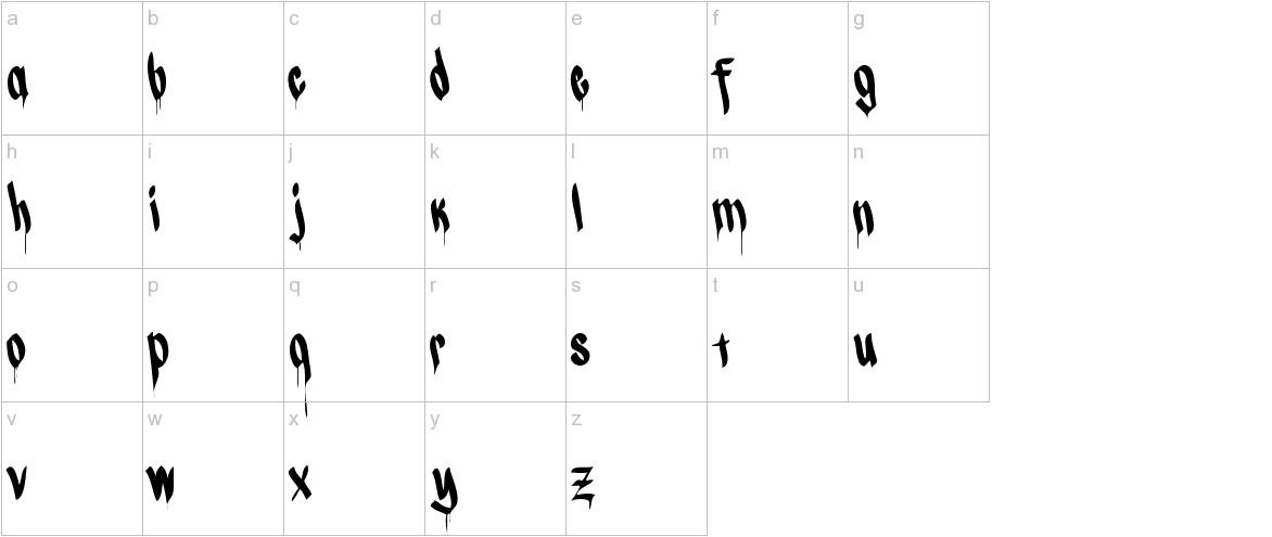 CALLI CHIZELRegular lowercase