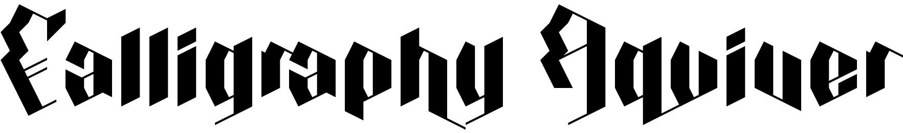Calligraphy Aquiver