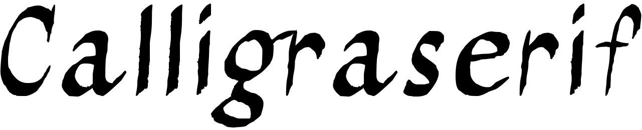 Calligraserif