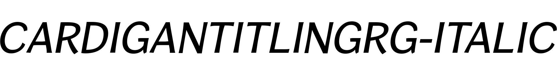 CardiganTitlingRg-Italic